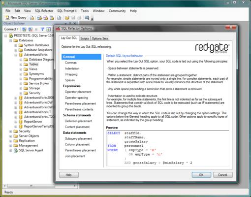 SQL Toolbelt (英語版) のスクリーンショット