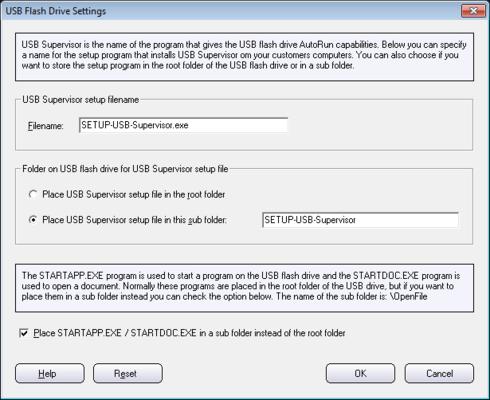 Screenshot of SamLogic USB AutoRun Creator