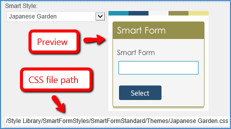 Preview Form Smart Styles