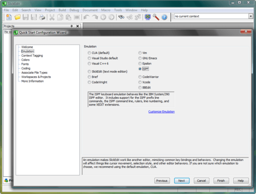 Screenshot of SlickEdit for Solaris SPARC and Solaris x86