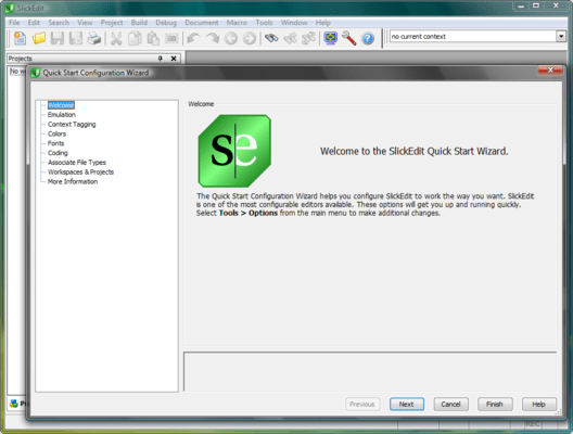 Screenshot of SlickEdit for Windows and Solaris x86