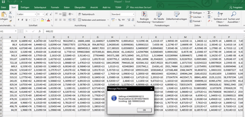 Use the SPR to make your own Excel-Benchmarks