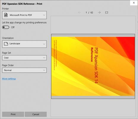 PDF Document Printer for Virtual Printing