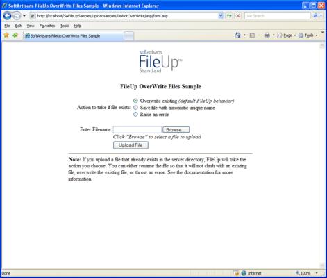 Set Behavior If File Already Exists
