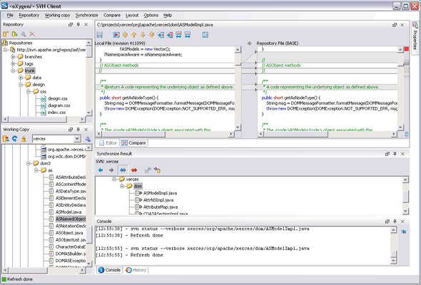Oxygen XML Editor Academic Screenshots