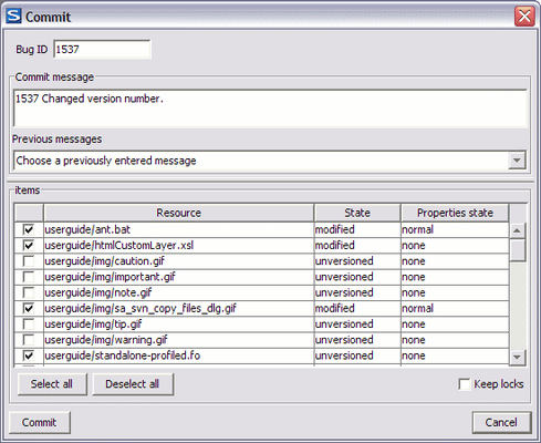 Synchronize with SVN Repository
