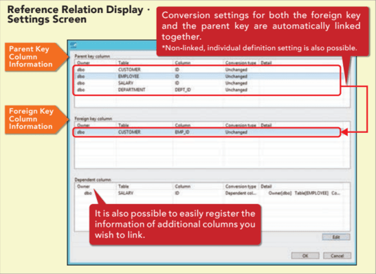 Reference Relation Display Settings Screen