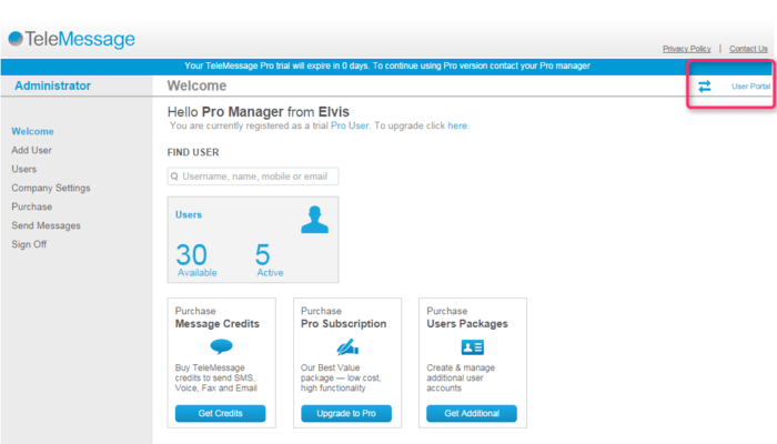 <strong>User Accounts</strong><br /><em>Switch between your administrator and user accounts easily.</em><br /><br />