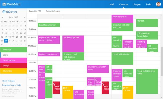 Telerik UI for ASP.NET MVC - Web Calendar