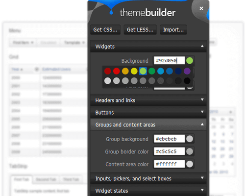 Telerik UI for PHP - Customize Themes