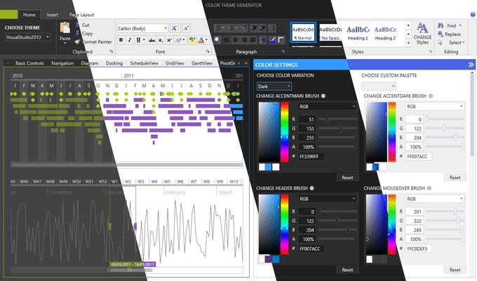 Telerik UI for Silverlight - Themes