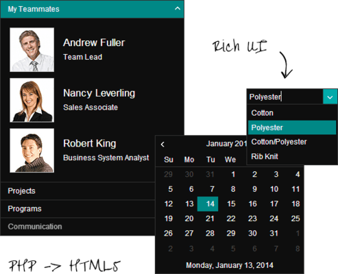 Telerik UI for PHP - UI Widgets
