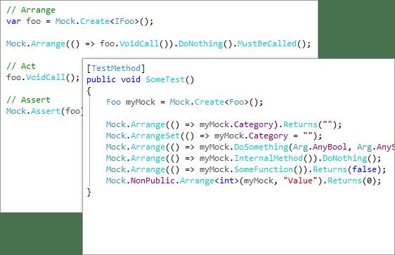 Telerik JustMock - Intuitive API