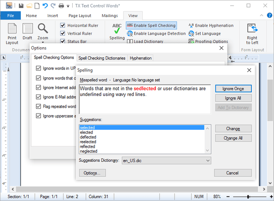 Integrated Dialog Boxes