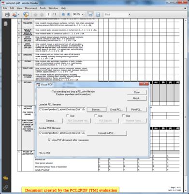 Convert LaserJet PCL to PDF (Portable Document Format), PCL to PDF