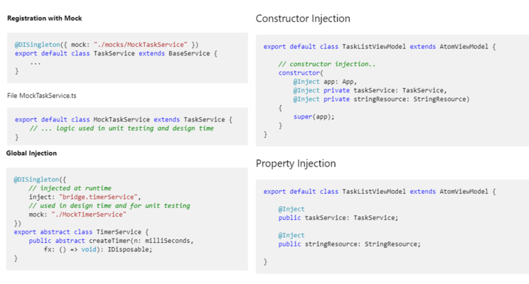 Constructor & Property Injection