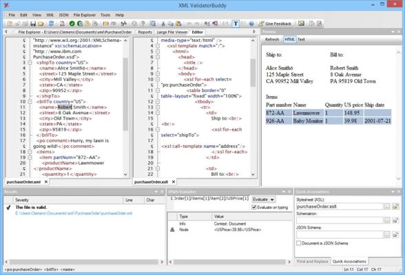 <strong>XML ValidatorBuddy Desktop application.</strong><br /><br />