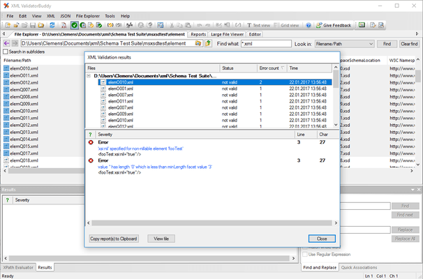 Quick and easy checking of multiple XML documents