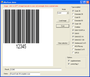 dBarScan.NET 1D adds aperture facility