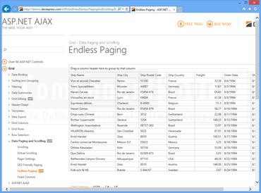 DevExpress ASP NET adds Endless Paging Apps