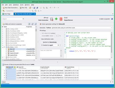 dbForge Data Generator for SQL Server 3.6.18 released