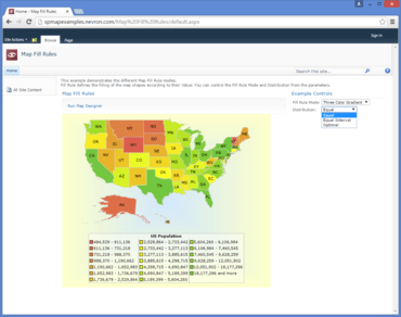 Nevron Vision for SharePoint 2015.1 adds Maps and Barcodes
