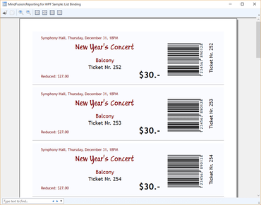 MindFusion.Reporting for WPF adds Barcodes