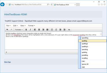 RapidSpell Web .NET v5.0 released