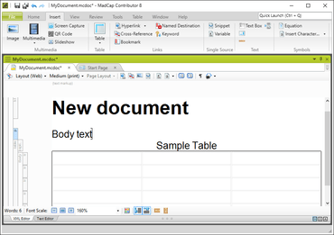 MadCap Contributor 8 adds Advanced Table Sorting