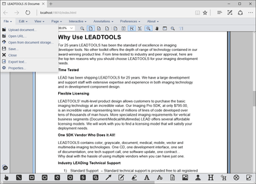 LEADTOOLS v19 Document SDKs updated