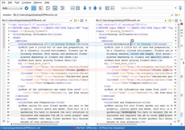 oXygen XML Developer V18 adds Three-way File Comparison