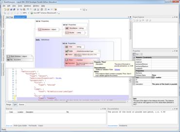 Liquid XML 2016 adds JSON Schema Editor