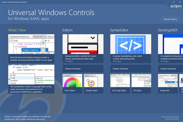 Actipro Universal Windows Studio 2016.1 released