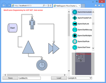 MindFusion.Diagramming for ASP.NET  5.7