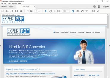 ExpertPDF HtmlToPdf Converter v11
