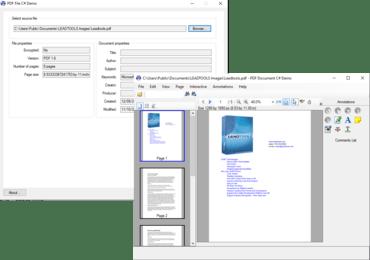 LEADTOOLS PDF Pro v19(2017年3月期リリース)