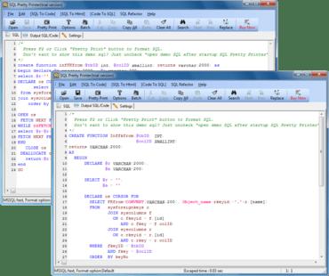 SQL Pretty Printer v3.8.1