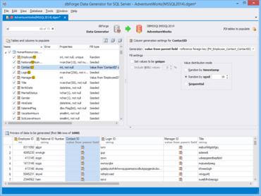 dbForge Data Generator for SQL Server V3.11.43
