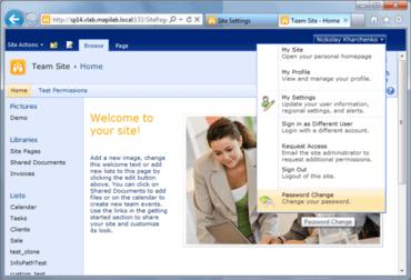 HarePoint Password Change for Microsoft SharePoint v1.6