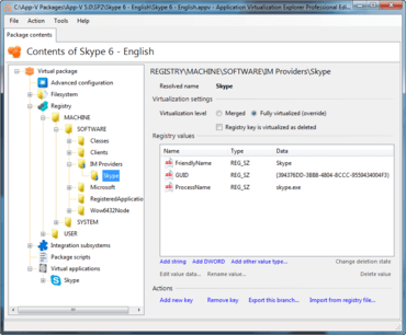Application Virtualization Explorer V5.5.0