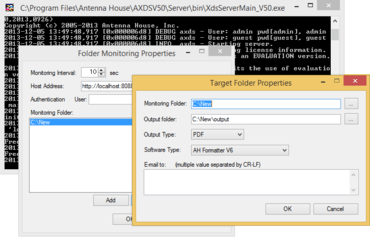 Web Interface for Formatter V6.0 MR2