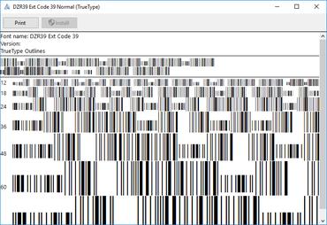 dFont Barcode Fonts for Windows - Code 39 V7.1