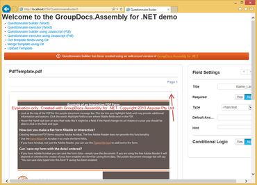 GroupDocs.Assembly for .NET V18.6
