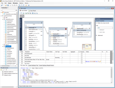 Active Query Builder for .NET WinForms v3.5