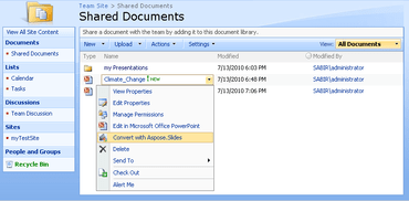 Aspose.Slides for SharePoint V18.10