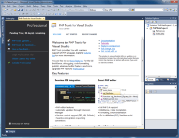 PHP Tools for Visual Studio v1.29.11015