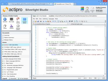 Actipro SyntaxEditor for Silverlight 2018.1 build 0232