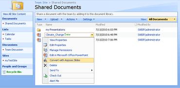 Aspose.Slides for SharePoint V19.4