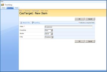 SharePoint Cascaded Lookup 5.8.517.0