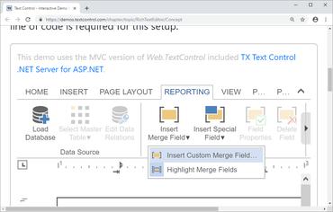 TX Text Control .NET Server for ASP.NET X17